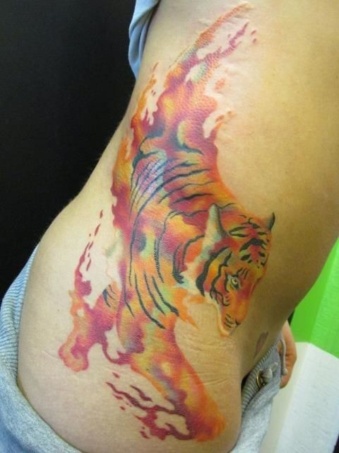 Tiger Watercolor Tattoo Tiger Tender Watercolor Tattoo